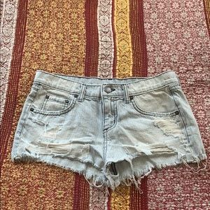 CARMAR Denim Stripe Shorts